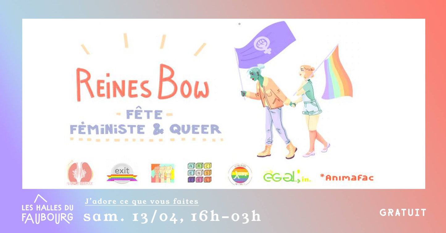 Notre association soutient le Reines Bow – Fête féministe & queer